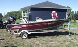 2004 Prince Craft Boat for Sale. Comes with Trailer, fish finder, live well and seats 3 people. Has not been used in 2 years. Has a 30 HorsePower 4 stroke Mercury engine. It  is in good running shape inside and out. Also comes with a boatlift. Lift is