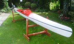 """I am selling off a 19' by 17"""" full carbon fiber racing sea kayak. Ultralight construction, incredibly fast on the water. Weight is around 25 lbs. Asking $2000.00 Paddles and accessories also available. See more at www.joeoblenis.com"""