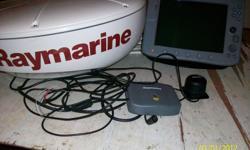 Raymarine c120 radar plotter/ sounder