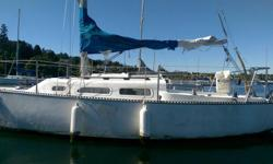Ranger 23 (ft) sailboat moored permanently in Cadboro bay (mooring buoy + spot included). Keel-boat equipped for day sailing and motoring, sleeps 4. Comes with tender (no oars), 2x crab traps, 1 mainsail, 1 genoa, 1 storm jib, 1 spinnaker, anchor, lines,