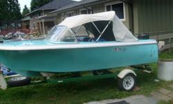 selling this rare 1957 thermocraft fiberglass boat,built in vancouver bc,original paint in great cond.comes with 1972 40hp mercury motor,runs great.trailer is in excellent cond.up graded steering.new battery,all lights working.used in fresh water only.2
