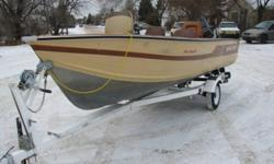 1990 Force 50Hp with power tilt, new CDI, trigger and flywheel.  Rebuilt carb, starter and water pump, new seal kit in lower leg, it runs like a top.  Boat is a 1983 SmokerCraft ProAngler, centre counsel steering, 4 pedestal seats, live well and bilge
