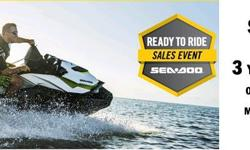 Sea-Doos Starting At $5899. With 3 Year Warranty