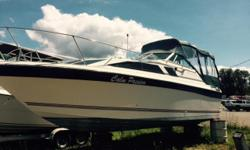 ORIGINAL ASKING PRICE $16,499 REDUCED TO $13,500 OBO OVER $15,000 WORTH OF RECEIPTS FROM WORK DONE OVER THE YEARS ON FILE TO VIEW. 1996 EVINRUDE 9.9 KICKER AND 1985 V8 VOLVO PENTA 260HP GAS FRESH WATER COOLED ENGINE. THIS BOAT HAS EVERYTHING YOU WILL