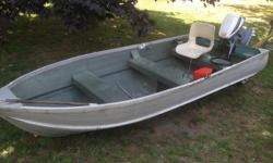 -12 Foot Aluminum Harbourcraft in awesome condition. Extra wide and stable... It is Hard to find ANY 12 aluminium boat rated for a 15hp, let alone have a boat equipped with a 15 Hp that is specified and rated from factory legally. - Evinrude 15hp Short