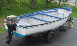 For Sale: 18 ft fiberglass boat, motor and trailer.  Ready for the fall fishery.  45 hp Johnson, 2 stroke.  Single axle trailer (recently modified) with new tires, rims, buddy bearings and axle.  Lights working.  Reason for selling - purchased larger