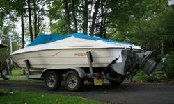 1995 Regal Bowrider.  5.0L Volvo Penta.  Motor just rebuilt and has less than 10 hrs on it.  Fresh water closed cooling system recently installed. Fish finder. Bimini tops.Tandem galvanized trailer.  Good overall condition. Delivery available.  Would