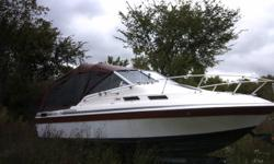 1975 Reinell 270, V8 350 ci, 24 Foot Boat, Volvo Penta Outdrive, Cuddy Cabin, Small kitchenette, Fridge & Stove, 8 Foot Beam, Porta Potty with Closet, Newly Refinished Bottom & Transom...1998 dual axle trailer included in deal. Stored inside last 2 years