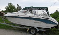 1992 Festia Rinker 20 ft cuddy cabin, full canopy. 4.3 mercruier engine put in new 3 years ago., galivized trailer 4 years old. works great, good shape. Call 902-823-3479 or 902-821-1214. $9000.00 OBO