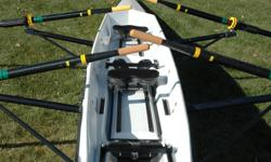 Make an offer on this mint condition (less than 2 hours) rowing scull from Little River Marine in Florida.  Converts easily from double to single rower.  Two sets carbon fiber oars included.  Contact Brian at 403-348-1233 for more details and photos.