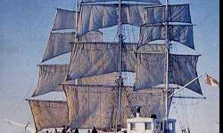 """We need sail material of all kinds and condition. We are building new sails for """"Canada's Arctic tall ship"""" North Star of Herschel Island and are in need of lots of material. We will cut panels out of ripped and worn sails and re-purpose them to fit her"""