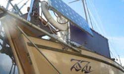 ZaZu is a 37' Herreshoff designed, double-ended, cutter-rigged sloop powered by a clean and quiet 48 volt electric drive. Solar panels, wind vane, GPS/chart plotter/depth sounder and radar. Shipwright built and owned. This vessel is a fast and beautiful