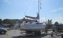"""CATALINA SAILBOAT 25 ft., TRAILER, OUTBOARD, DINGHY 1995 C250 WB 8'-6"""" Beam - Water-Ballast - Sloop rigged Catalina C250 WB trailerable sail boat is a current, well designed cruiser ready to take you and your family on lake or coastal trips for just a"""