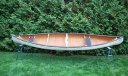 Price reduced Scott kevlar canoe Prospector 16 52 pounds Black vinyl trim package which includes webbed seat and ash yoke and handles Asking $1250 or b/o Call 705-499-7812