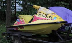Pair of Sea Doo's XP800 Limited and a GTX with a newer dual trailer and what was going to be the tow vehicle a 2002 Cadillac STSBlack on Black leather with wood trim package, loaded STS - PW,PS with 2 driver memory, Bose Stereo, triple climate control,