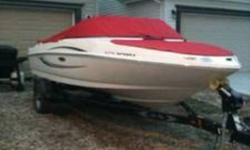 Like new, used only sixty five hours! *3.0L MerCruiser engine - very fuel efficient *Matching Shorelander Trailer with Swing-Away tongue *Canvas bow and cockpit covers *Bilge pump *Snap in/out carpet *Factory Sony cd stereo with four speakers *Plenty of