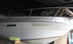 boat for sale 350 chey high out put mercury out dive 260 hp boat in shop no money to run.last 2 year  $8000 or best .Sister to boat in water ,but brown and gold  not red