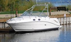 The 270 Amberjack offers the best of both worlds for sports-minded families, comfortable cruising plus an optional full-feature fishing package. The stylish cockpit includes versatile seating and built-in storage, while the spacious cabin below features a