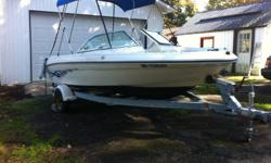 Must go this weekend Divorce Must sell great boat solid nice shape mechanically perfect 3.0l in board mercy out drive interior sleeper seats no rips floor storage power tilt and trim full gauges fish and depth finder stereo CD mp3 player canopy top comes