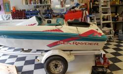 1993 Mercury Sea Rayder Up start jet boat ** project ** Complete w/ Jet (and manual) ** just needs a motor** Seats 4 people, approx 15 feet long Asking $1000 for boat and trailer. Listing for a friend Would consider selling boat by itself if interested.