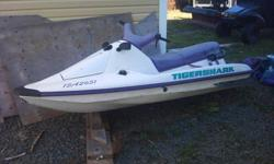 i have 2 seadoos for sale both need motor rebuilt one tiger shark asking 250.00, and the other seadoo comes with trailer asking 300.00 great for parts or someone who knows how to rebuild motor, call 489-3630 for info.