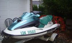 its a seadoo 2001 gtx rfi..with low hours 119 hrs,its in excellent condition comes with ez loader trailer and cover..call bill at 604 588-5323 or cell at 604 803-2444