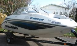Seadoo jet boat for sale. 2007 Challenger 180 SE. White/Blue in colour, clean, winterized, indoor winter storage, trailer included, low hours (40) and well maintained. Contact for more info if interested.
