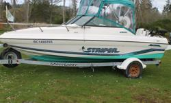 This 1995 20 ft. Seaswirl Striper is fully equipped to fish salmon and halibut or hit the lake. This boat handles incredibly well in various sea conditions and is a dream to fish out of. It comes loaded with lots of extras: - 150hp Johnson two-stroke - 6