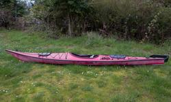 I have a well used but well maintained fibreglass Seaward Navigator single sea kayak for sale. She is red with black trim and a red hull complete with factory installed kevlar bow to stern anti-abrasion strip. A perfect kayak for multiday tours complete