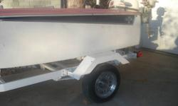 This is rare boat only 250 ever made by skagit industry canada. the only thing that is wrong with this boat is the motor don't run right .if you are a mechanic ..I think you would have a great boat . The trailer is included and the small trolling motor as