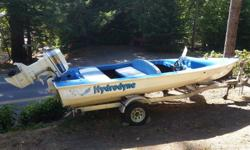 Ski Boat with 115hp outboard, fast boat.