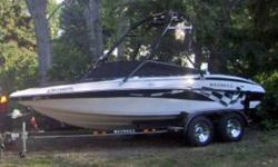 This beautiful boat is a  2008 Reinell 19' Ski Boat. - 225HP fuel injected Volvo Penta 2008  - Propeller - 5 blade stainless steel prop  - Graphics package.  - Put in Alpine Stereo with 3 Alpine amps, Alpine sub-woofer, and tower speakers. $4K Sounds