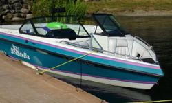 21 ft inboard bow rider ski boat with only 300 hrs 351 pcm motor new carb and battery great wake board / surf , ski . tow tubes knee board, cruise it does it all for this low price, tandem trailer bow cover bimini top boat cover all included