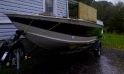 16.5 ft smokercraft 60 bigfoot merc. Deep wide boat runs great.