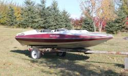 WINTER PROJECT BOAT! 15' FIBERGLASS STINGRAY, WITH TRAILER RATED FOR 100 HP MOTOR, DOES NOT COME WITH