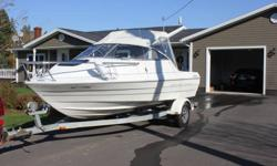19 ft bayliner inboard outboard in excellent condition 3.0 litre mercruiser with alpha 1 stern drive. Also it seats 7 adults. Comes with 8 life jackets, 12 pound anchor, flare gun, spare blade, VHF radio, AM FM CD radio, fish finder. This boat is a must