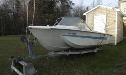 Selling a 16' Chrysler Speed Boat with 115 Evinrude Outboard Motor & Trailer included. Needs work. Asking $1000 obo. Please reply back to this email or call Mike @ 902-864-5828 or 902-292-4991 if interested.