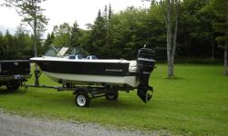 TRADE FOR: plow truck, may look at vehicles in the $3000 dollar range. Nice little speed boat, works good, had fun with it all summer but now have something bigger for next year. This boat can take 6 or 7 comfortably. Comes with fish finder and bow gas