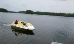 Sporster 4-Tec Seadoo Boat for sale by owner. 1503cc - 4 stroke year is 2005, low hours Boat comes with trailer, tarps (storage and manufacturer's), life jackets, knee board and pull rope, paddles Please contact for more info 705-672-2121 or 705-647-2205