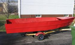 16 foot steel boat. Good condition ,no leak.