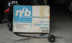 """Rack & Pinion Steering Cable, 14' 6"""", MFG Teleflex w/o wheel. For outboard motor or I.O. Excellent Condition."""