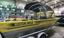 This 19ft Custom Weld Viper II jetboat in bright yellow was stolen from Leduc Alberta on August 18, 2011. The trailer plate is 4BE283.   If you have any information regarding this theft, or the boats whereabouts, please contact us or the police. It is a