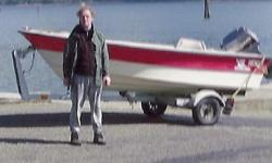MUSLING 15 foot open powerboat with Yamaha 30 & good trailer.