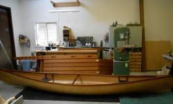 16ft Chestnut Prospector canoe. 2 packable flotation tanks.