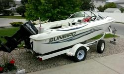 1995 sunbird boat 88 hp engine pulls tubes skiers etc boat in great condition upolstery could use a refresh but rips just waethered engine funs great open bow seats 8