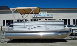 Sylvan 2016 818 Mirage White SYLP1051 & 1052 The most compact of the Mirage Cruise pontoons from Sylvan, the Mirage 818 offers comfortable seating and unique open space deck areas. With this exceptional value, great days on the water are well within