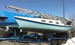 """Tanzer 22 Sailboat - """"Blue Mist"""" - 8HP outboard, dual axel trailer and all the gear needed for cruising or racing. Winter cover system, including new tarp. Buy the boat and keep it in the area and I will help with the launch, raising the mast and rigging,"""