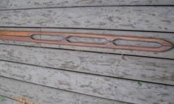 "One set of teak hand rails - excellent condition - 56 3/4"" X 1 1/2"" X 7/8"""