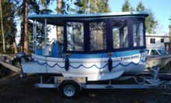 Potential for small water taxi, coffee or hotdog stand, exc. Cost to build $70 000.00, asking $55 000.00, this boat is as new, with no hours on it. Contact Guy's Boats for more details.... Price $55,000.00