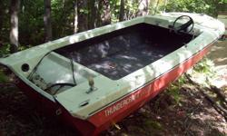 Thundercraft fibreglass 14ft boat.Hull and transom are solid.Floor is flat second layer in great shape.No ownership.Priced to sell.$150 for quick sale.Contact 613 756 0161